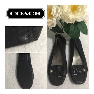 COACH Black Leather Flats - Size 8 .5